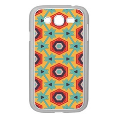 Stars And Honeycomb Pattern Samsung Galaxy Grand Duos I9082 Case (white)