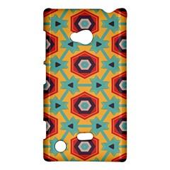 Stars and honeycomb pattern Nokia Lumia 720 Hardshell Case
