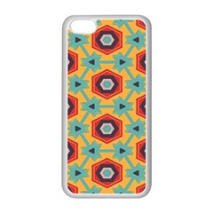 Stars and honeycomb pattern Apple iPhone 5C Seamless Case (White)