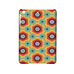 Stars and honeycomb pattern Apple iPad Mini 2 Hardshell Case