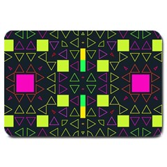 Triangles and squares Large Doormat