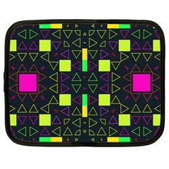 Triangles and squares Netbook Case (XL)