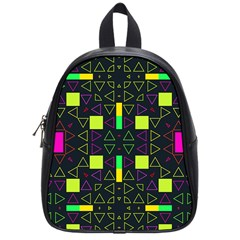 Triangles and squares School Bag (Small)