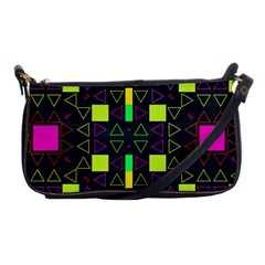 Triangles and squares Shoulder Clutch Bag