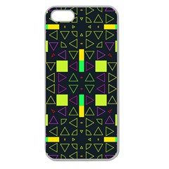 Triangles and squares Apple Seamless iPhone 5 Case (Clear)