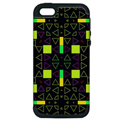 Triangles and squares Apple iPhone 5 Hardshell Case (PC+Silicone)