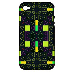 Triangles and squares Apple iPhone 4/4S Hardshell Case (PC+Silicone)