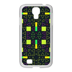 Triangles and squares Samsung GALAXY S4 I9500/ I9505 Case (White)
