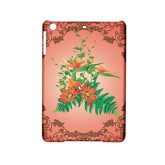 Awesome Flowers And Leaves With Floral Elements On Soft Red Background iPad Mini 2 Hardshell Cases
