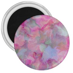 Soft Floral Pink 3  Magnets