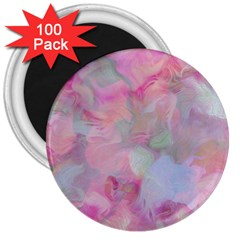 Soft Floral Pink 3  Magnets (100 pack)