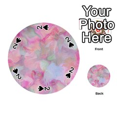 Soft Floral Pink Playing Cards 54 (round)