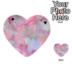Soft Floral Pink Playing Cards 54 (heart)