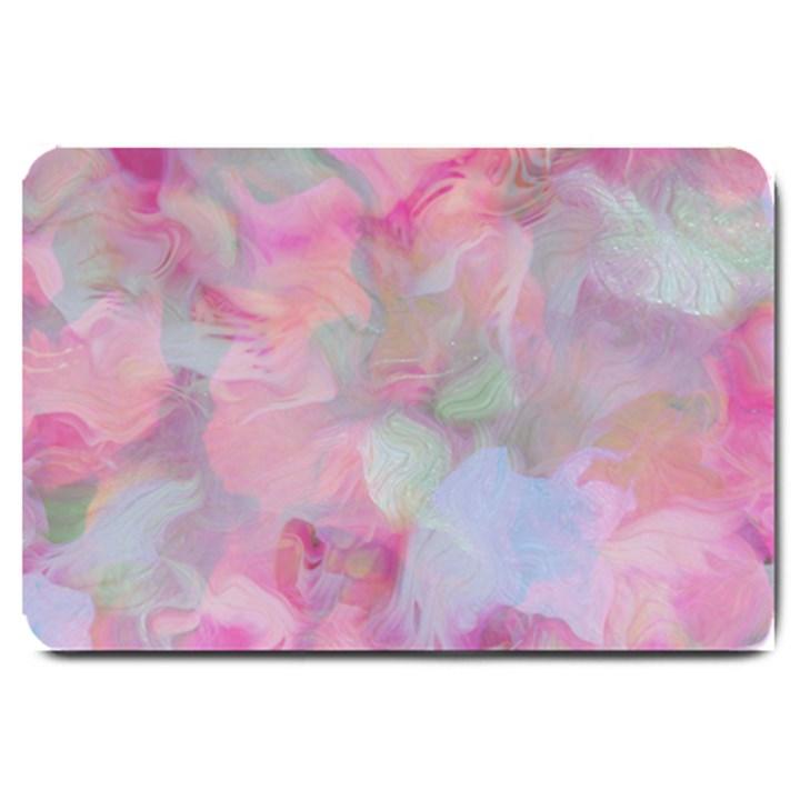 Soft Floral Pink Large Doormat