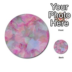 Soft Floral Pink Multi Purpose Cards (round)