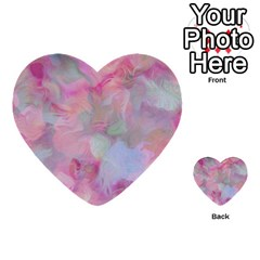 Soft Floral Pink Multi Purpose Cards (heart)