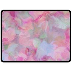 Soft Floral Pink Fleece Blanket (large)
