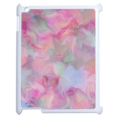 Soft Floral Pink Apple iPad 2 Case (White)