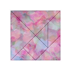 Soft Floral Pink Acrylic Tangram Puzzle (4  x 4 )