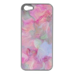 Soft Floral Pink Apple iPhone 5 Case (Silver)