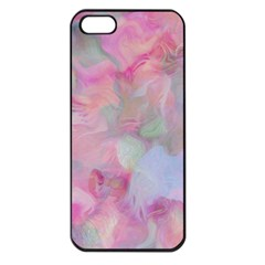 Soft Floral Pink Apple iPhone 5 Seamless Case (Black)