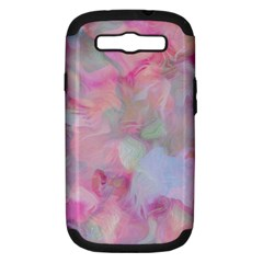 Soft Floral Pink Samsung Galaxy S III Hardshell Case (PC+Silicone)