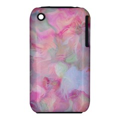 Soft Floral Pink Apple iPhone 3G/3GS Hardshell Case (PC+Silicone)