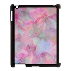 Soft Floral Pink Apple iPad 3/4 Case (Black)