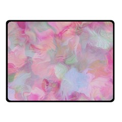 Soft Floral Pink Double Sided Fleece Blanket (small)