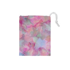 Soft Floral Pink Drawstring Pouches (Small)