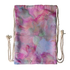 Soft Floral Pink Drawstring Bag (Large)