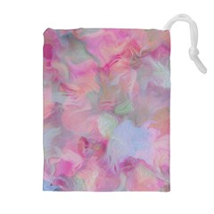 Soft Floral Pink Drawstring Pouches (extra Large)
