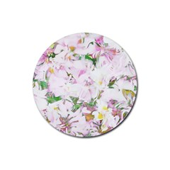 Soft Floral, Spring Rubber Coaster (Round)