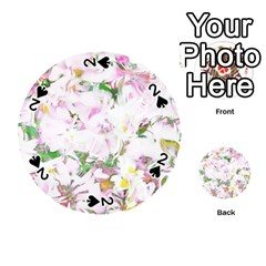 Soft Floral, Spring Playing Cards 54 (round)