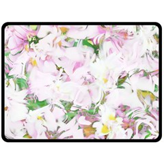 Soft Floral, Spring Fleece Blanket (Large)