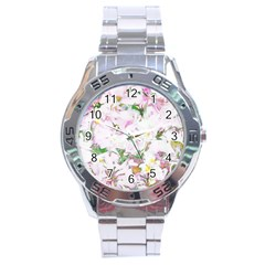 Soft Floral, Spring Stainless Steel Men s Watch