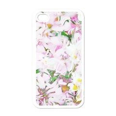Soft Floral, Spring Apple iPhone 4 Case (White)