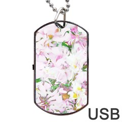 Soft Floral, Spring Dog Tag USB Flash (One Side)