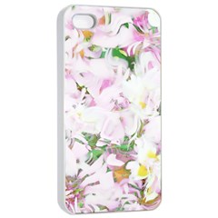 Soft Floral, Spring Apple iPhone 4/4s Seamless Case (White)