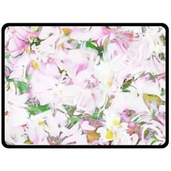 Soft Floral, Spring Double Sided Fleece Blanket (Large)