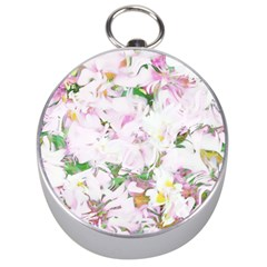 Soft Floral, Spring Silver Compasses