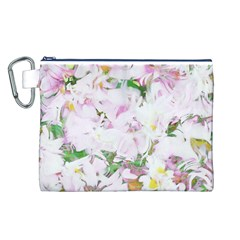 Soft Floral, Spring Canvas Cosmetic Bag (L)