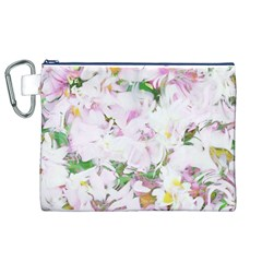 Soft Floral, Spring Canvas Cosmetic Bag (XL)