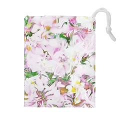 Soft Floral, Spring Drawstring Pouches (Extra Large)