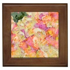 Soft Floral,roses Framed Tiles
