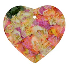 Soft Floral,roses Ornament (Heart)