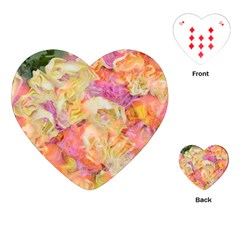Soft Floral,roses Playing Cards (heart)