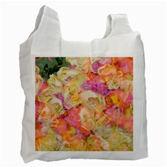 Soft Floral,roses Recycle Bag (Two Side)