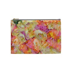 Soft Floral,roses Cosmetic Bag (Medium)
