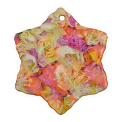 Soft Floral,roses Snowflake Ornament (2 Side)